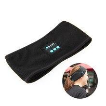 Winter Knitting muzyczna opaska na słuchawki W/ Mic bezprzewodowe słuchawki Bluetooth słuchawki do biegania joga Gym Sleep Sports słuchawka