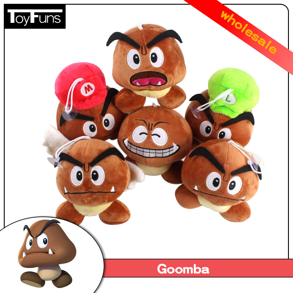 10pcs Lot 6style 14 16cm Wholesale Anime Super Mario Bros Goomba