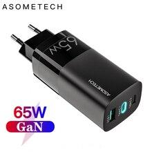 65ワットガン充電器pd 3.0 4.0高速usb充電器12 11と100ワットpdケーブルクイック充電器サムスン華為xiaomiノートパソコン