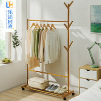 Clothes Hanger Floor Clothes Rack Bedroom Coat Rack Household Clothes Rack Solid Wood Simple Modern Shelf