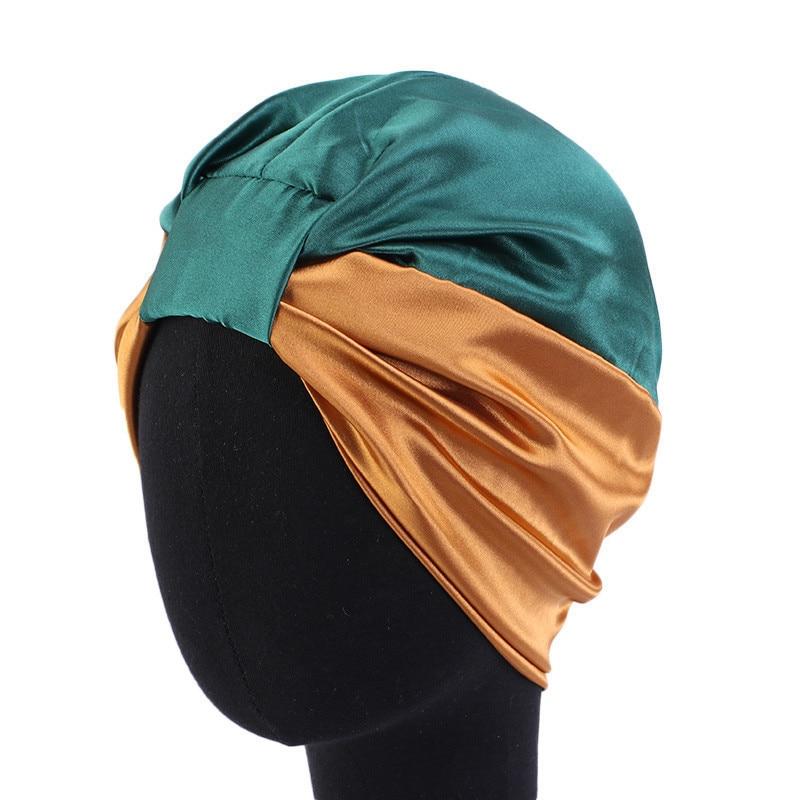 Модный мусульманский шелковый головной убор для женщин 2020