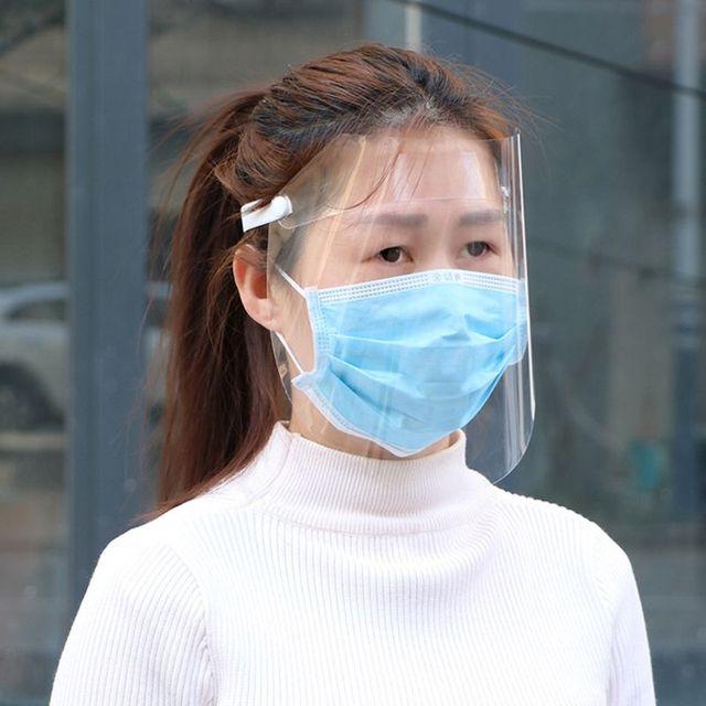 Transparent Anti-saliva Dust-proof Protect Full Face Covering Mask Visor Shield 2
