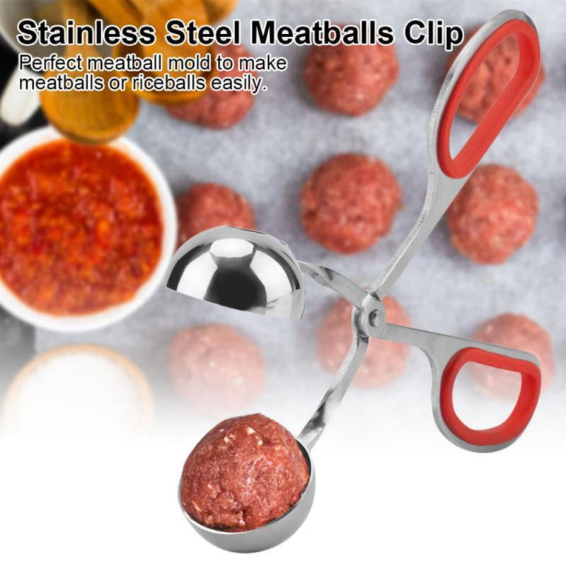 Convenient Meatball Maker Stainless Steel Stuffed Meatball Clip DIY Fish Meat Rice Ball Maker Kitchen Accessories  Dropshipping