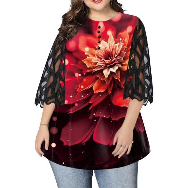 beautiful geometric sleeve button top blouse 5