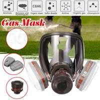 4 estilo 6800 rosto máscara de gás máscara de gás ajustável rosto cheio pintura de pulverização respirador para máscara de gás respirador filtro|null| |  -