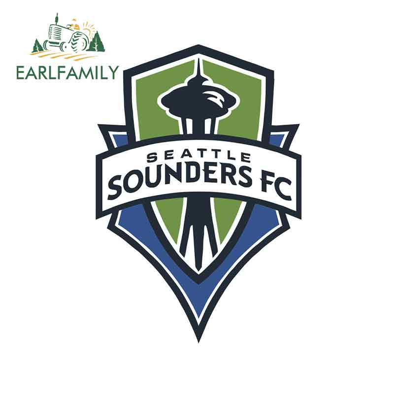 EARLFAMILY 13cm X 12cm For Seattle Sounders FC Vinyl Decal Sticker Car Truck Pinup Scratch-Proof Sticker Suitable For VAN RV