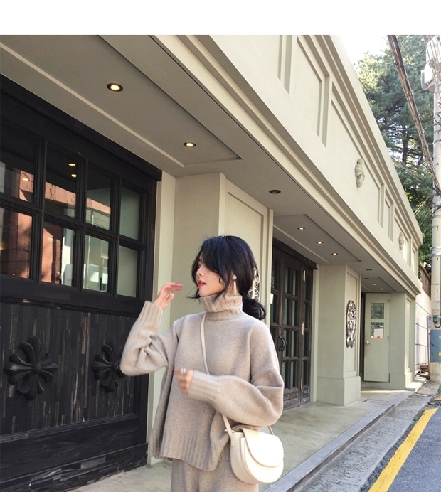 H88b1a196e8094171a428e08189d31b7ci - Autumn / Winter Turtleneck Sweater and Straight Solid Pants