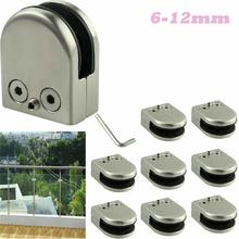 NEW Glass Clamp Stainless Steel Holder For Window Balustrade Handrail Staircase L/M/S Size