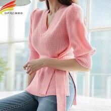 Женская блузка с рукавами фонариками элегантная повседневная