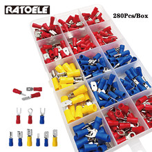 2.8mm /4.8mm/6.3mm Male / Female Insulated Terminals + Crimp Spade Wire Connector 280pcs / set terminal conector