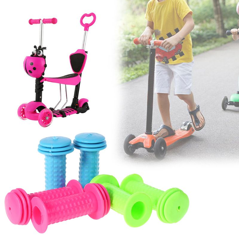 1 Pair Anti-slip Children Rubber Bicycle Grip Kids Scooter Tricycle Handle