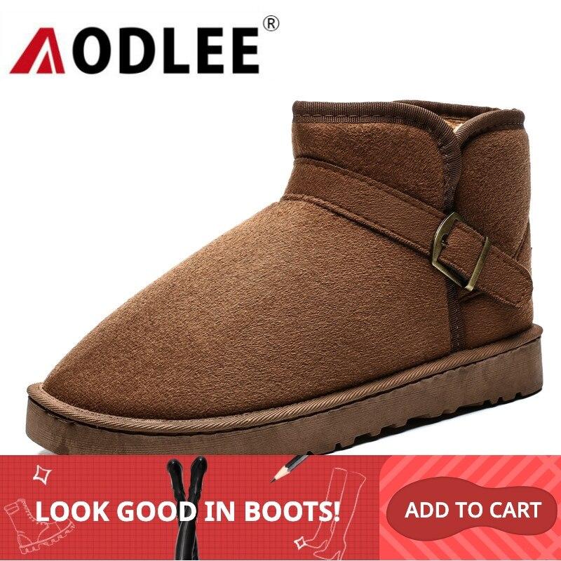 Snow Boots Men Couple Big Size 35-47 Fashion Winter Men Boots Plush Warm Leather Men Shoes Ankle Boots Plush Warm Men Snow Boots
