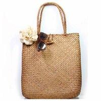 Torebki damskie letnia torba na plażę tkane rattanowe ręcznie robione słomiane torebki damskie o dużej pojemności Bohemia nowość w Torby z uchwytem od Bagaże i torby na