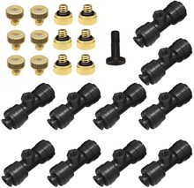 FF  Misting Nozzles Kit Fog Nozzles For Patio Misting System Outdoor Cooling System Garden Water Mister misting cooling system sxdool cooling diy new cooling system refrigeration system diy kit set peltier cooler cooling system