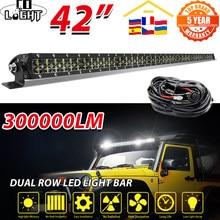 CO LIGHT – barre lumineuse 6D à double rangée, 8/14/22/32/42/52 pouces, Led, pour bateau, 4x4, 4WD, véhicule tout-terrain, conduite automobile, barre de LED