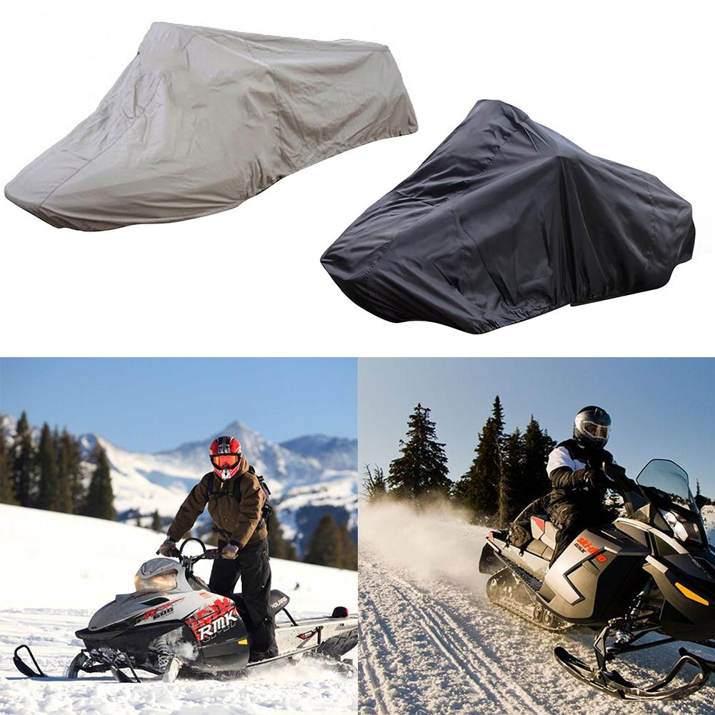 145*51*48 Inch Outdoor Skiing Snowmobile Cover Waterproof UV Protection Windproof Snow Cover Adjustable Rope Snowmobile Cover
