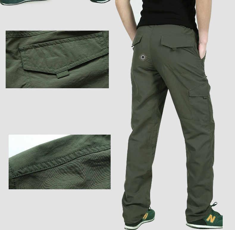 LA CHA Mens Outdoor Hiking Pants Waterproof Quick Dry Lightweight Trekking Rock Climbing Trousers