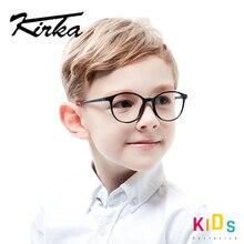 Óculos infantil de kirka tr90, armação de óculos redonda infantil, flexível tr90 para meninos e meninas de 6 10 anos velho velho
