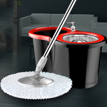 Spin Mop With Two Buckets Double Drive Microfiber Pad Hand Free Lazy Floor Mops Whirlwind Elution in 1 House Cleaning Tool