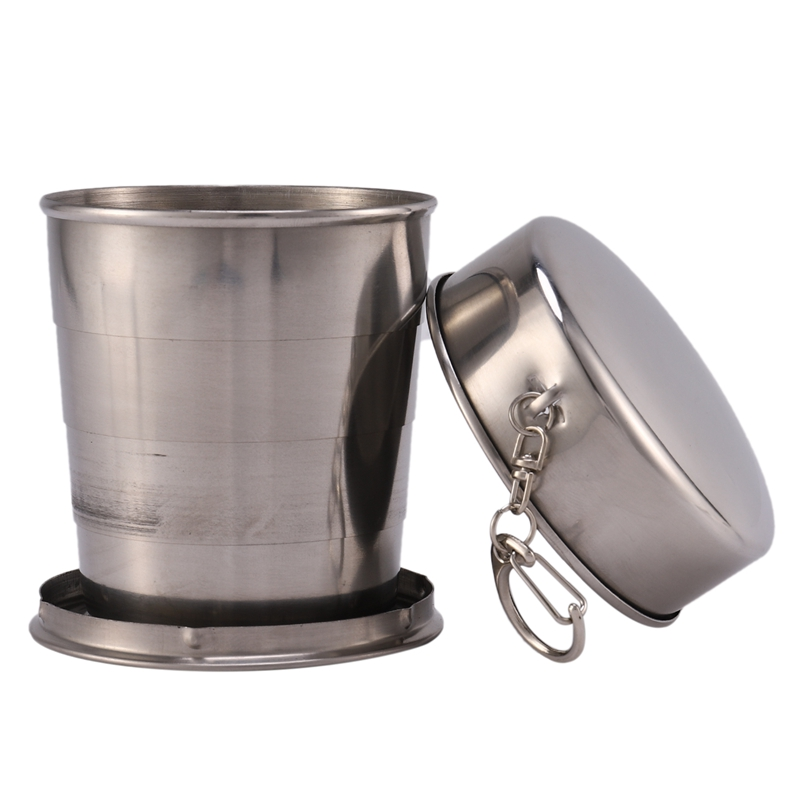 Folding Cups Outdoor Sports Travel Stainless Steel Telescopic Cups Travel Mugs Portable Wash Cups|Sports Bottles| |  - title=