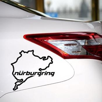 Nurburgring Map Funny Car Truck Vehicle Reflective Decals Sticker Decoration 2019 New Wholesale Funny Sign Car Accessories 1