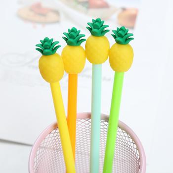 1Pc biurowe śliczne ananas długopis żelowy biurowe zaopatrzenie szkolne czarny tusz kreatywne narzędzie szkolne dzieci pisanie długopisy materiały biurowe tanie i dobre opinie CN (pochodzenie) Tusz w płynie Biuro i szkoła pen 0 5mm Normalne GGQ411 Z tworzywa sztucznego