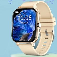 1.69 بوصة شاشة كبيرة ساعة ذكية الرجال النساء 2021 بلوتوث دعوة الرياضة مراقب معدل ضربات القلب Smartwatch تخصيص خلفية الساعات