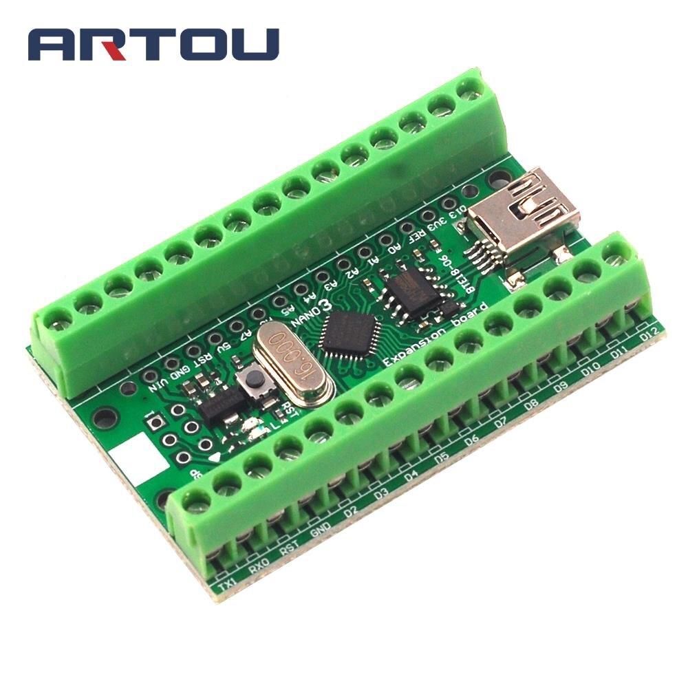 CH340G CH340 Nano V3.0 ATMEGA328P Terminal Module Expansion Board Microcontroller Micro USB for Arduino UART