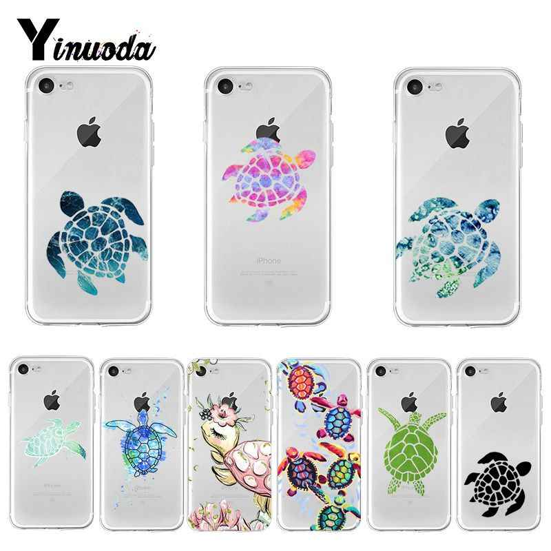 Yinuoda Green Blue Turtle Animal New Arrival Phone Ultrathin Case for iPhone 8 7 6 6S Plus X XS max 10 5 5S SE XR Coque Shell