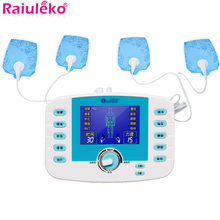 10 Modes Dual Output Voice Prompts Tens Acupuncture Pluse Massager Meridian Body Physiother