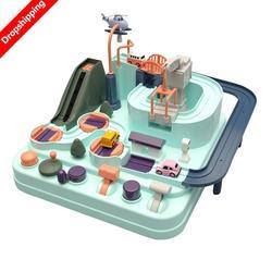 Детский автомобиль Приключения Игра ручной Железнодорожный трек игрушки для детей развивающая игрушка Макарон цветная настольная игра го...
