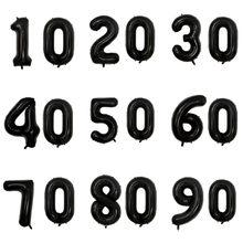 32 Cal złote cyfry balony 10 20 30 40 50 60 70 80 90 lat dorosłych urodziny rocznica ślubu DIY balony dekoracji