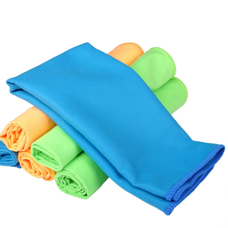 1Pcs 30CM X 40CM Microfiber Cloth Set Two-faced Plush Cleaning Cloth Wiping Dust Car Care Home Cleaning Towel