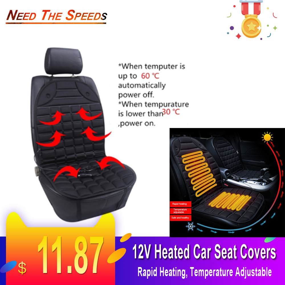 12V Heated Car Seat Covers Cushion Universal Seat Heater For Winter Heating Thermal Seatpad Auto Accessories Auto Winter Heating