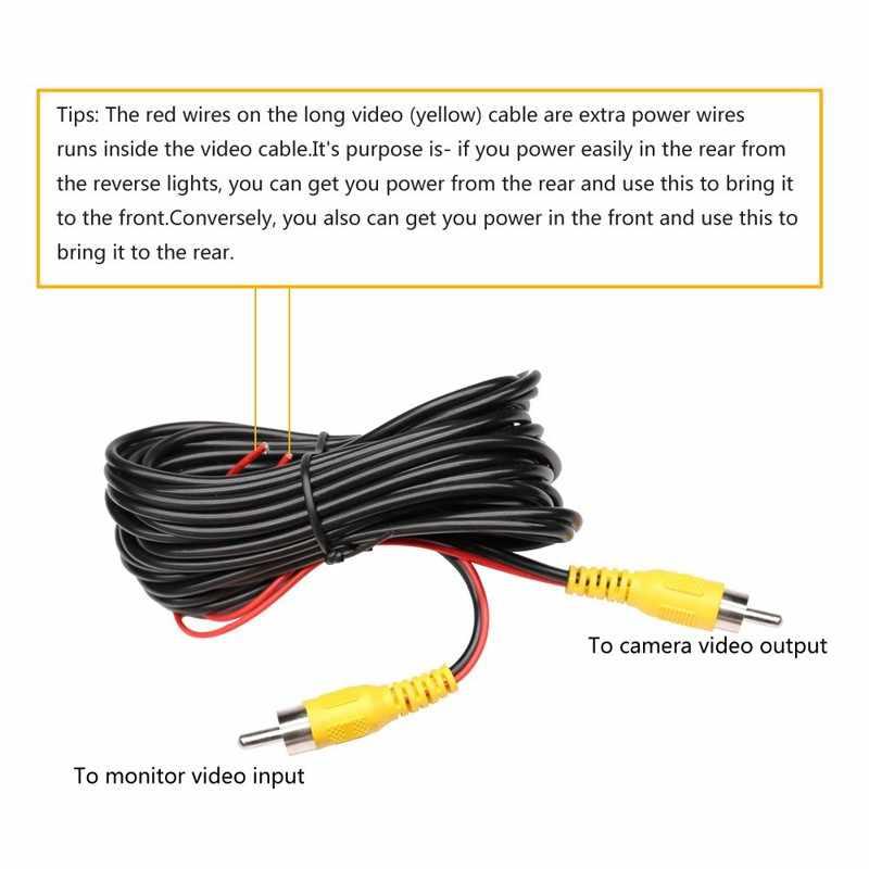 6m câble vidéo pour voiture caméra de vue arrière universel RCA 6 mètres de fil pour connecter la caméra de recul avec moniteur multimédia de voiture