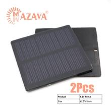 2Pcs 5V 0.5W 0.6W 0.8W Solar Battery PET Solar Panel Outdoor Portable Solar Charger Pane