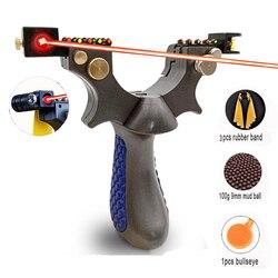 2019 nouvelle fronde de chasse de tir en plein air de haute précision sertie de fronde de visée Laser à bande de caoutchouc plate