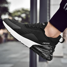 Men's brand sports sneakers with laces, outdoor trend comfortable sports