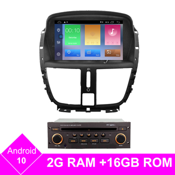 Android 10 Quad core autoradio for Peugeot 207 2007-2014 GPS Navigation Radio stereo Bluetooth USB multimedia free gps map image