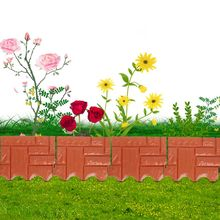 Assemble Plastic Simulation Brick Effect Lawn Garden Grass Edging Skirting Border Picket Fence Home Gardening DIY Fence Decor
