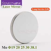 Startnow Mo Laser Reflective Lens 19 20mm 25 30 38.1 THK 3mm Optic Laser Reflector Mirrors For 40W CO2 Cutting Machine Carving