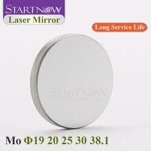 Startnow lente reflectante láser Mo 19, 20mm, 25, 30, 38,1 THK, 3mm, espejos reflectores para máquina de corte CO2 de 40W, talla