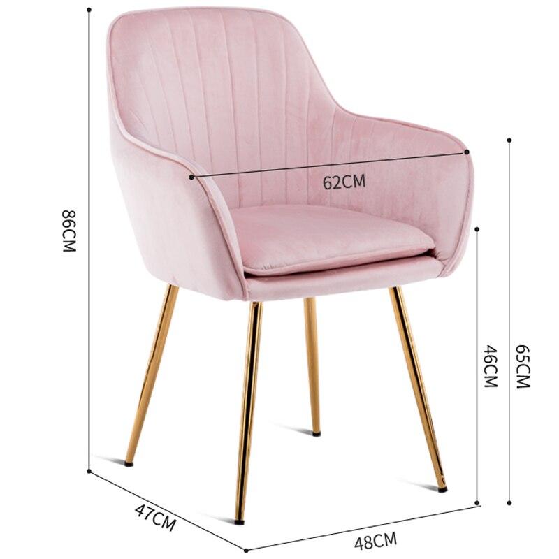 Принцесса Принц леди нордический Золотой Железный Металл мягкий бархат обеденный стул домашний комод Свадебный праздник ужин бар кофе диван стул