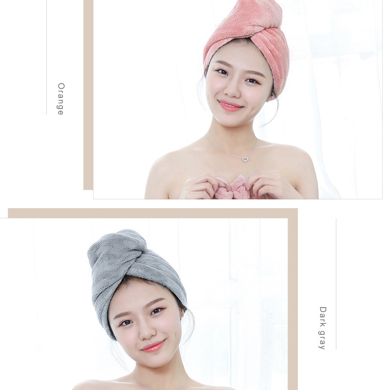 Quick Drying Lady Microfiber Bath towel soft shower cap Bath Towel Hair Dry cap for lady Turban Head Hat Wrap Bathing Tools