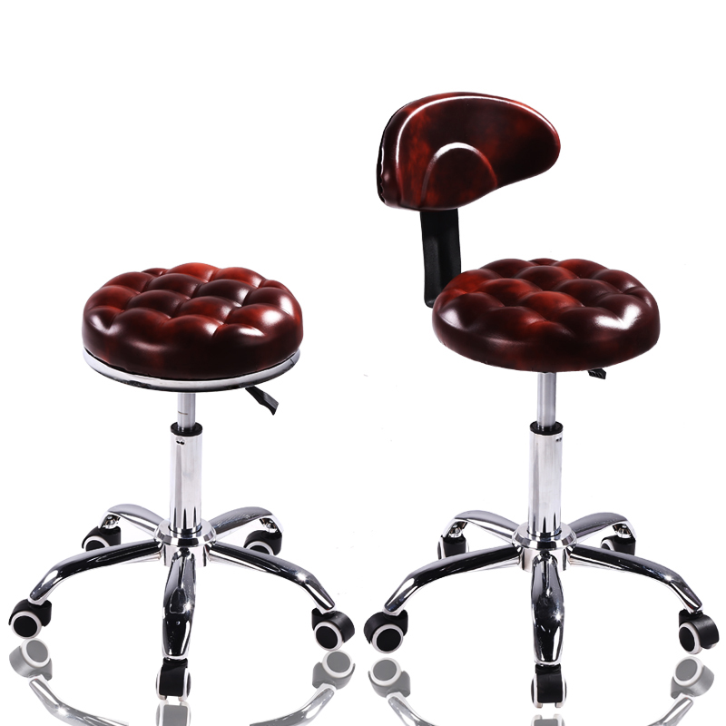 Beauty Stool Work Chair Hairdressing Manicur Master Sliding Wheelchair Barber Shop Lifting Stool With Wheels Rotating