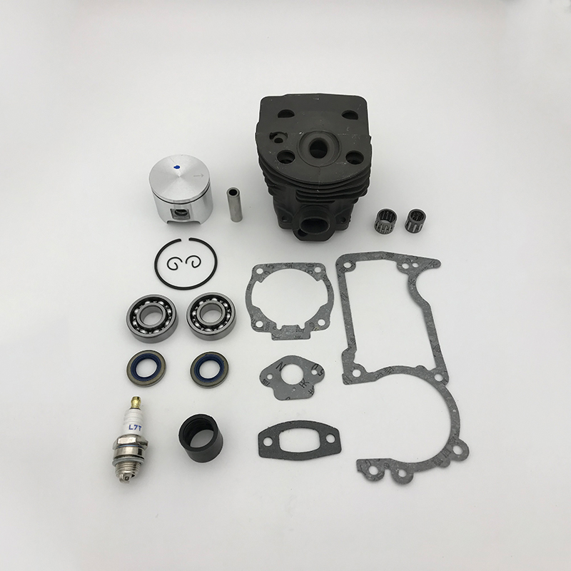 Nikasil Rancher HUNDURE Kit Engine 46mm Husqvarna Chainsaw Bearing Oil Plate Piston Parts Seal For 505155 Gas Cylinder