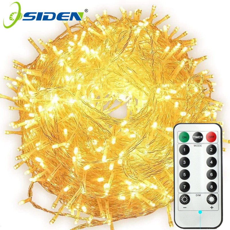 Fairy Garland LED String Lights Waterproof For Christmas Tree Wedding Home Indoor Decoration Remote Control Battery Powered 3m