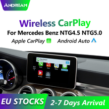 Interface de voiture automatique sans fil Apple Carplay/Andorid pour Mercedes Benz NTG4.5 NTG5.0 2013-2017 caméra de recul \\ cartes