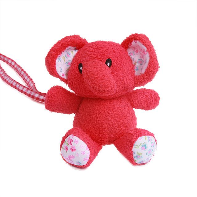 Cartoon Red Elephant Infant Soft Plush Baby Toy Bed Rattles Toy Doll Baby Stroller Pendant Toy Bed Crib Stroller Hanging