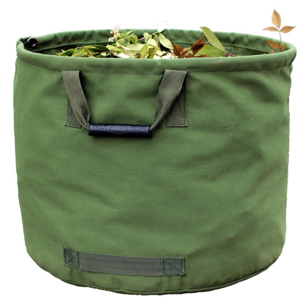 600D Waterproof Oxford Cloth Garden Leaf Storage Bag For Plant Flower Garbage Bag Reusable Gardening Lawn Leaf Yard Waste Bag